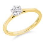 18ct Yellow Gold Brilliant Cut Diamond Solitaire Engagement Ring 0.40ct