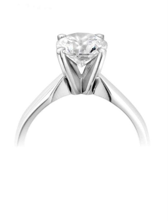 Platinum Brilliant Cut Diamond Solitaire Engagement Ring 0.40ct