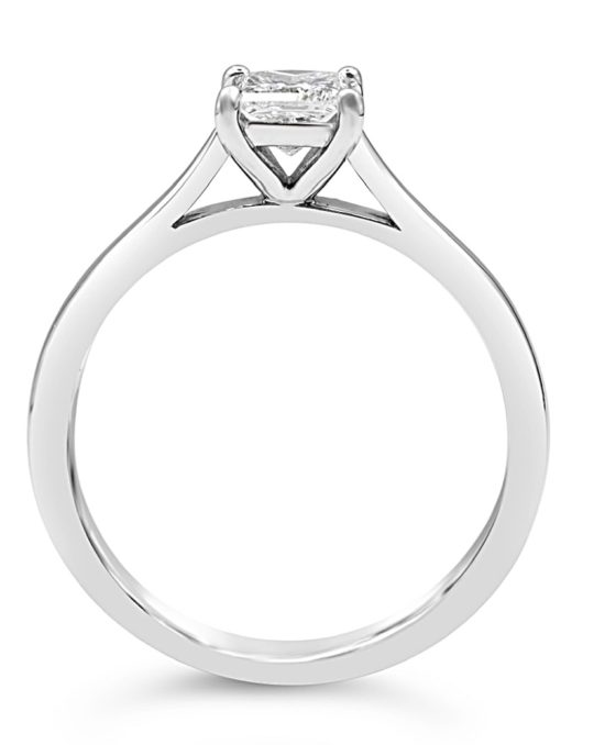 Platinum Princess Cut Diamond Solitaire Engagement Ring 0.40ct