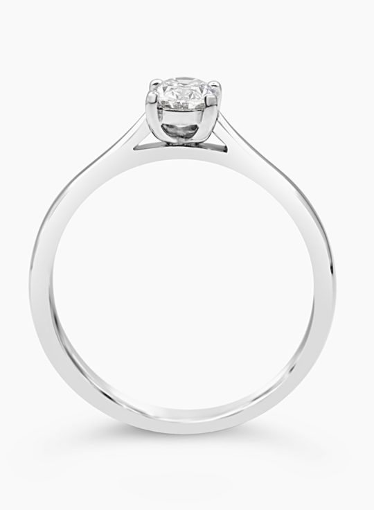Platinum Oval Cut Diamond Solitaire Engagement Ring 0.30ct