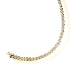 18ct Yellow Gold Brilliant Cut Diamond Claw Set Tennis Bracelet 3.00ct