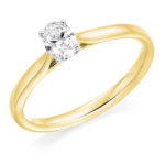 18ct Yellow Gold Oval Cut Diamond Solitaire Engagement Ring 0.30ct