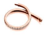 18ct Rose Gold Princess Cut Diamond Channel Set Tennis Bracelet 6.50ct