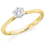 18ct Yellow Gold Brilliant Cut Diamond Solitaire Engagement Ring 0.30ct